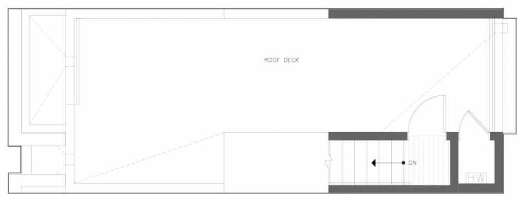 Roof Deck Floor Plan of 818 NE 63rd St in Zenith Towns South by Isola Homes