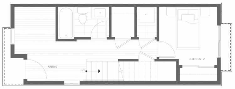 First Floor Plan of 822 NE 63rd St in Zenith Towns South by Isola Homes