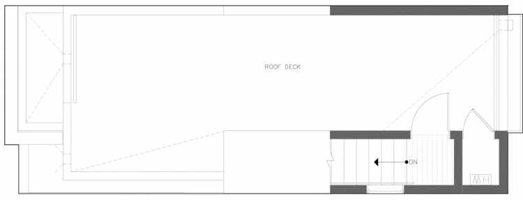 Roof Deck Floor Plan of 822 NE 63rd St in Zenith Towns South by Isola Homes