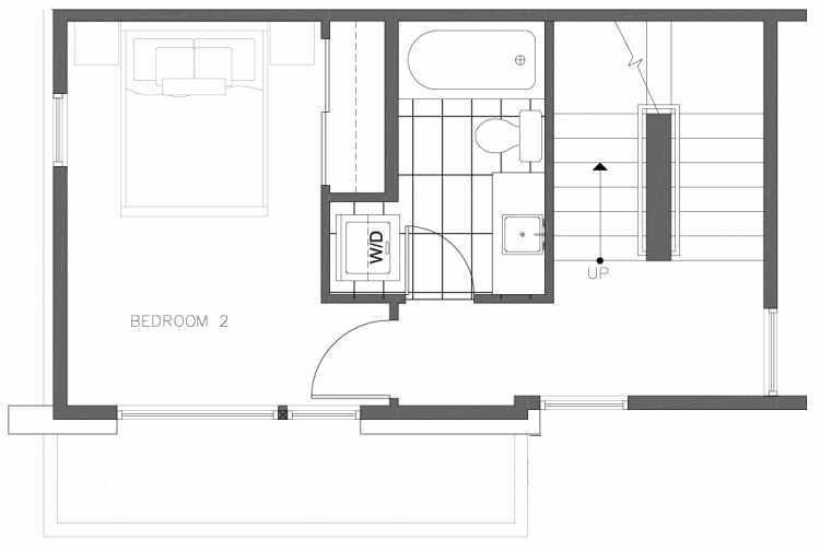 Second Floor Plan of 8354A 14th Ave NW in the Thoren Townhomes