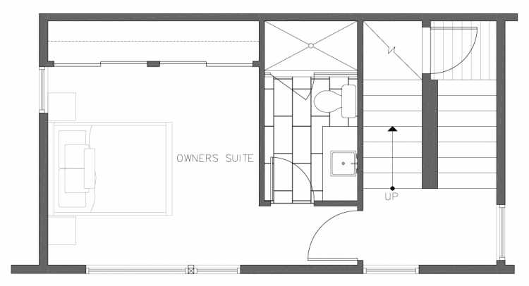 Third Floor Plan of 8354A 14th Ave NW in the Thoren Townhomes