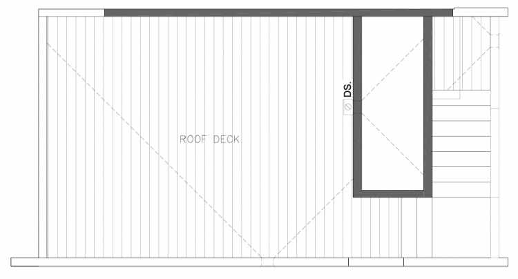 Roof Deck Floor Plan of 8354A 14th Ave NW in the Thoren Townhomes