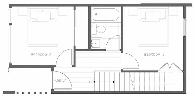 First Floor Plan of 8354B 14th Ave NW in the Thoren Townhomes