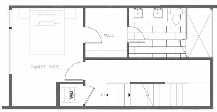 Third Floor Plan of 8354B 14th Ave NW in the Thoren Townhomes