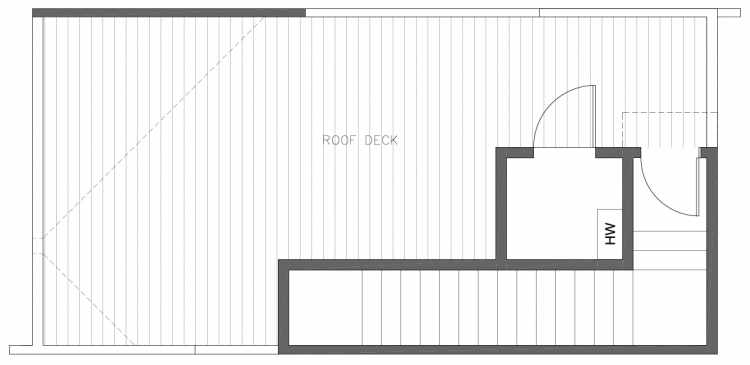 Roof Deck Floor Plan of 8354B 14th Ave NW in the Thoren Townhomes