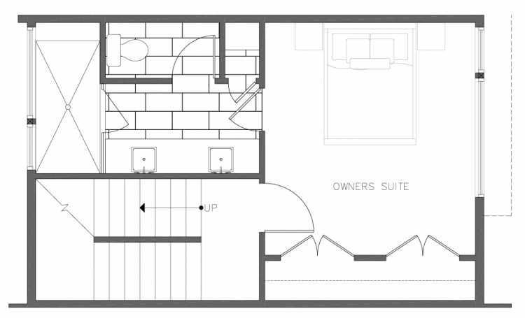 Third Floor Plan of 8354C 14th Ave NW in the Thoren Townhomes