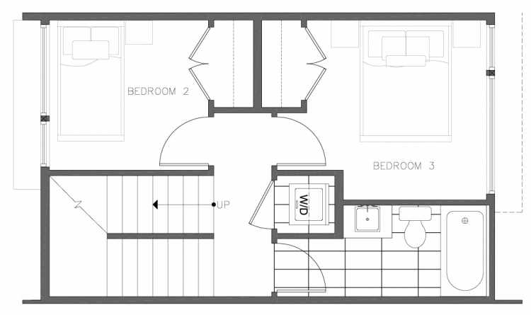 Second Floor Plan of 8354D 14th Ave NW in the Thoren Townhomes