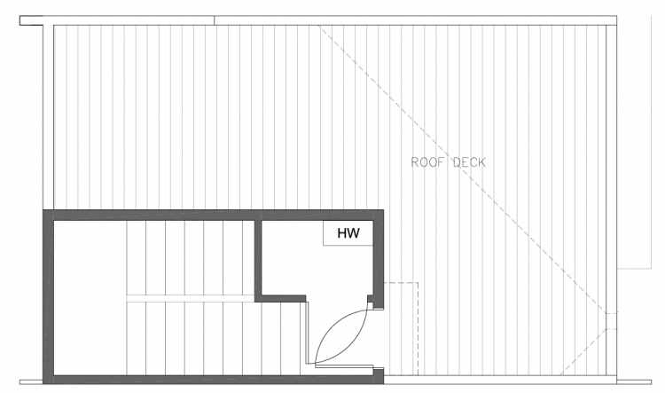 Roof Deck Floor Plan of 8354D 14th Ave NW in the Thoren Townhomes