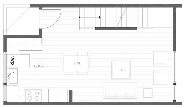 Second Floor Plan of 8354E 14th Ave NW in the Thoren Townhomes