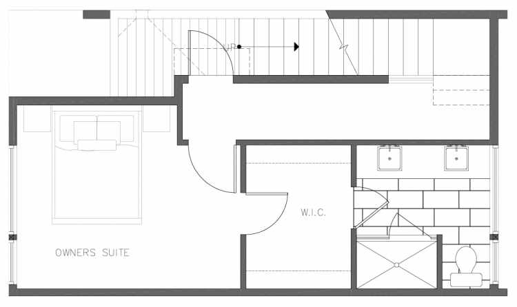 Third Floor Plan of 8354E 14th Ave NW in the Thoren Townhomes