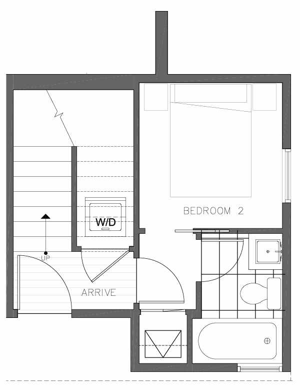 First Floor Plan of 8362 14th Ave NW in the Thoren Townhomes