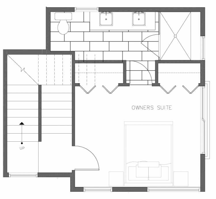 Third Floor Plan of 8362 14th Ave NW in the Thoren Townhomes