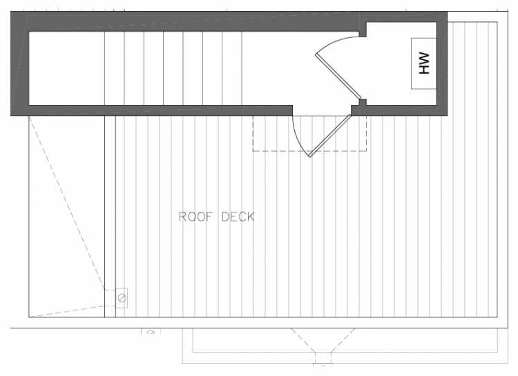 Roof Deck Floor Plan of 8362 14th Ave NW in the Thoren Townhomes