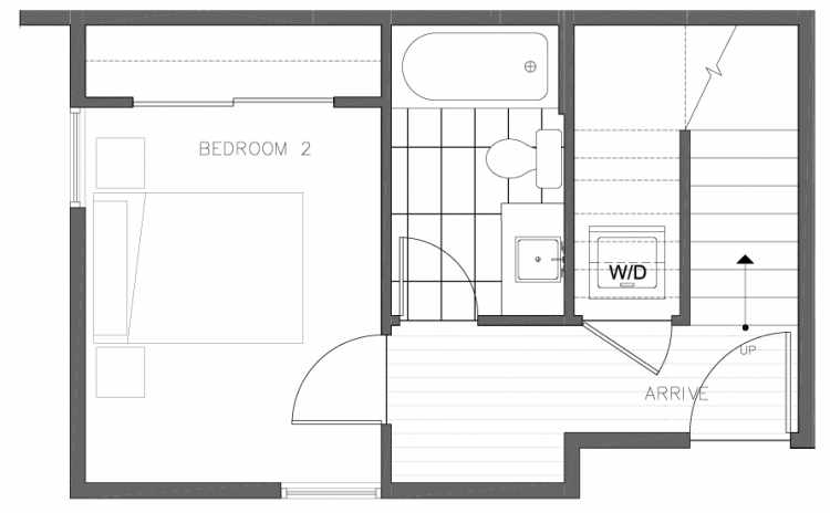 First Floor Plan of 8364 14th Ave NW in the Thoren Townhomes