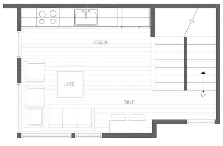 Second Floor Plan of 8364 14th Ave NW in the Thoren Townhomes