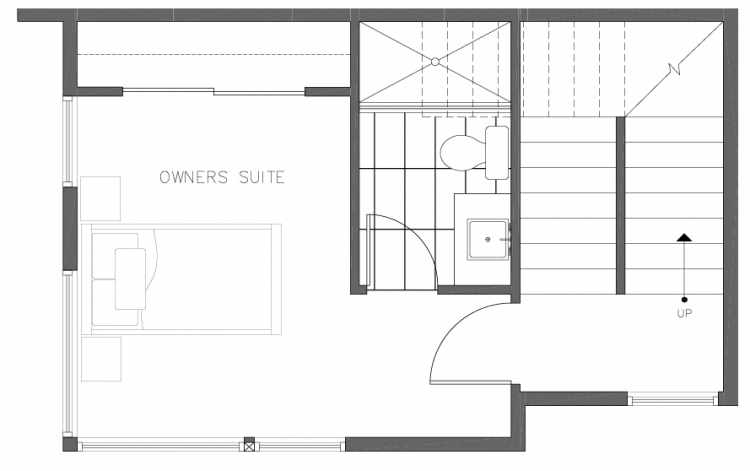 Third Floor Plan of 8364 14th Ave NW in the Thoren Townhomes