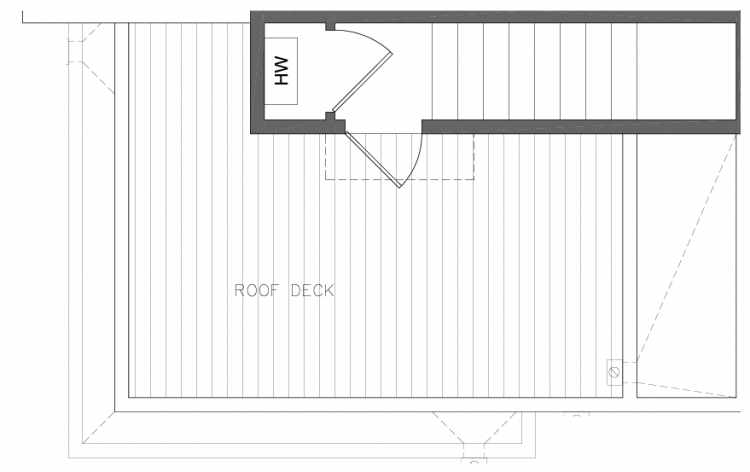 Roof Deck Floor Plan of 8364 14th Ave NW in the Thoren Townhomes