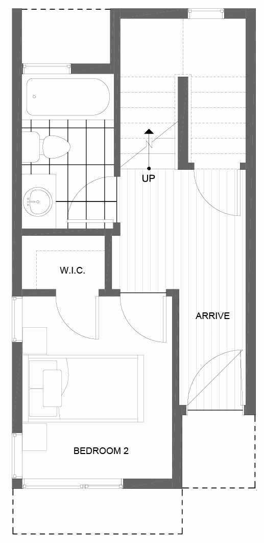 First Floor Plan of 8501 16th Ave NW, One of the Alina Townhomes in Crown Hill
