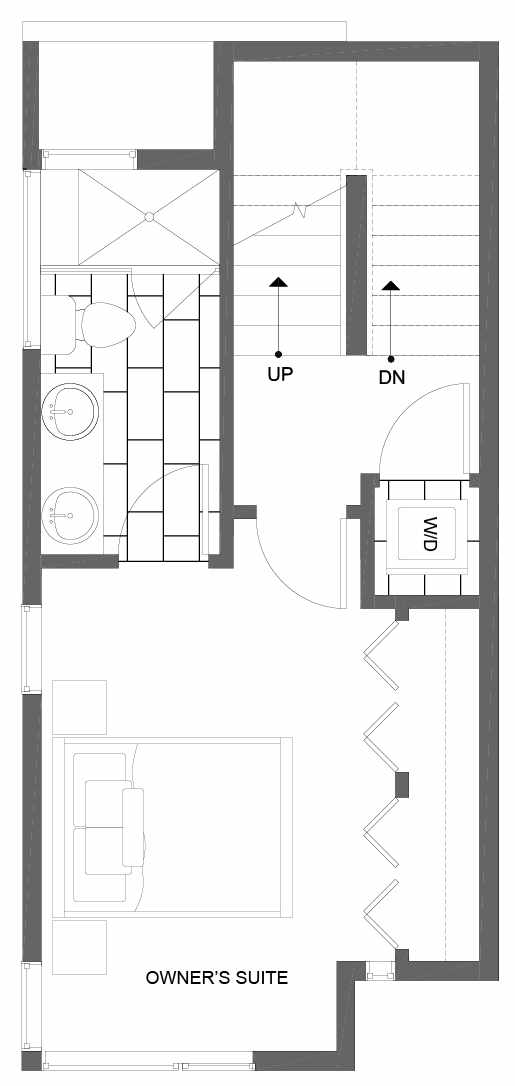 Third Floor Plan of 8501 16th Ave NW, One of the Alina Townhomes in Crown Hill