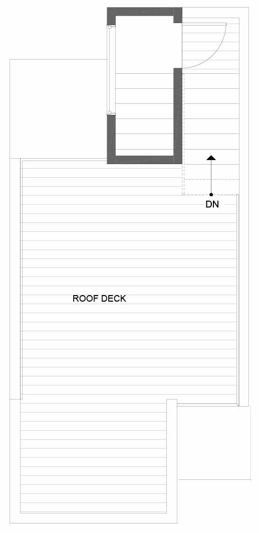Roof Deck Floor Plan of 8501 16th Ave NW, One of the Alina Townhomes in Crown Hill