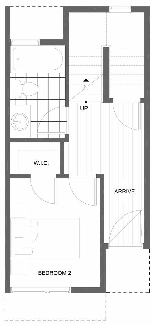 First Floor Plan of 8503 16th Ave NW, One of the Alina Townhomes in Crown Hill