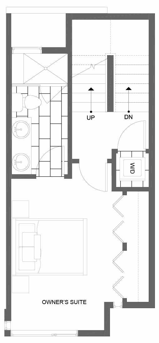Third  Floor Plan of 8505 16th Ave NW, One of the Alina Townhomes in Crown Hill
