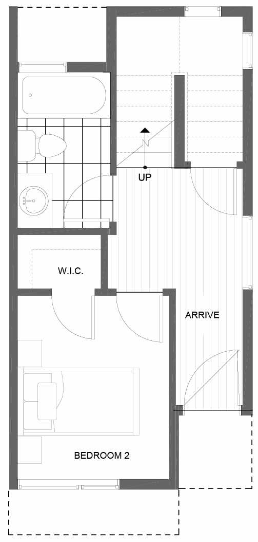 First Floor Plan of 8507 16th Ave NW, One of the Alina Townhomes in Crown Hill