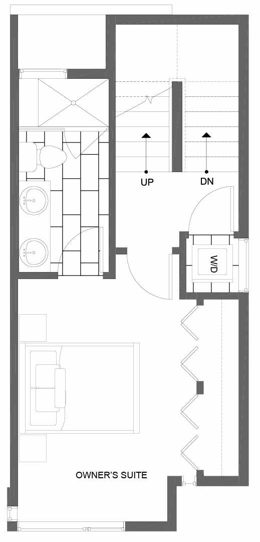 Third Floor Plan of 8507 16th Ave NW, One of the Alina Townhomes in Crown Hill