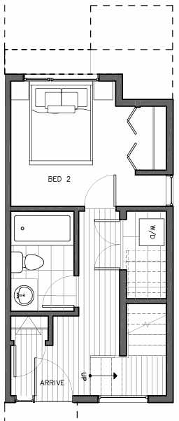 First Floor Plan of 8509A 16th Ave NW, One of the Ryden Townhomes in Crown Hill
