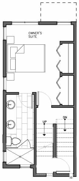 Third Floor Plan of 8509A 16th Ave NW, One of the Ryden Townhomes in Crown Hill