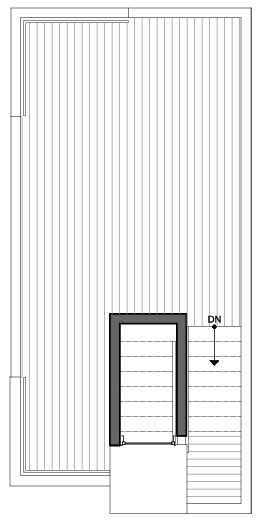 Roof Deck Floor Plan of 8509A 16th Ave NW, One of the Ryden Townhomes in Crown Hill
