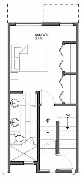 Third Floor Plan of 8509B 16th Ave NW, One of the Ryden Townhomes in Crown Hill