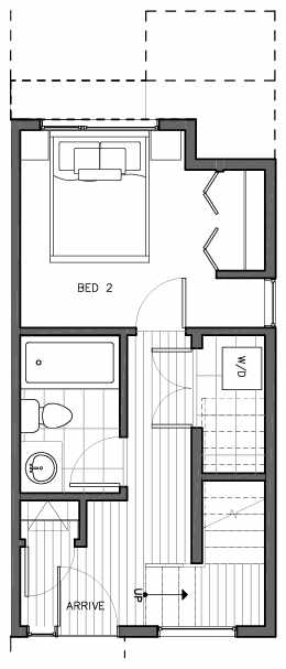 First Floor Plan of 8509C 16th Ave NW, One of the Ryden Townhomes in Crown Hill