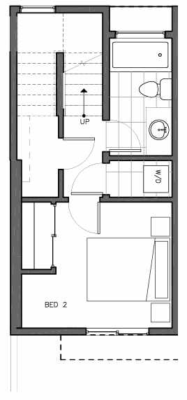 First Floor Plan of 8511A 16th Ave NW, One of the Ryden Townhomes in Crown Hill