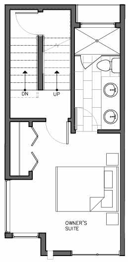 Third Floor Plan of 8511A 16th Ave NW, One of the Ryden Townhomes in Crown Hill