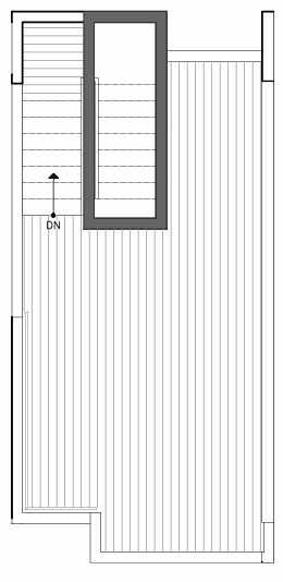 Roof Deck Floor Plan of 8511A 16th Ave NW, One of the Ryden Townhomes in Crown Hill