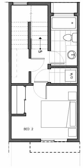 First Floor Plan of 8511B 16th Ave NW, One of the Ryden Townhomes in Crown Hill