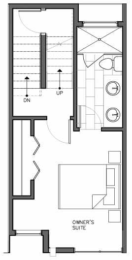 Third Floor Plan of 8511B 16th Ave NW, One of the Ryden Townhomes in Crown Hill