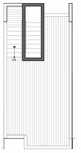 Roof Deck Floor Plan of 8511B 16th Ave NW, One of the Ryden Townhomes in Crown Hill