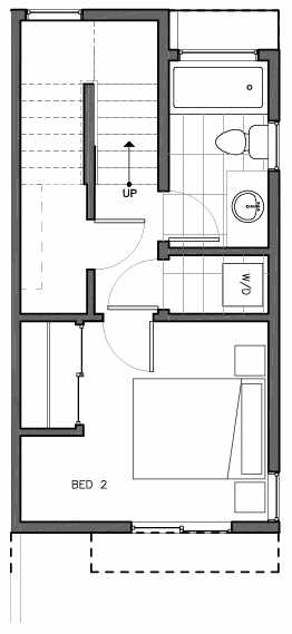 First Floor Plan of 8511C 16th Ave NW, One of the Ryden Townhomes in Crown Hill