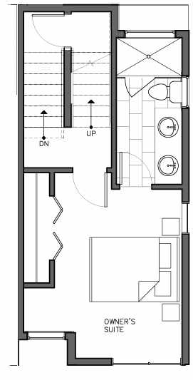 Third Floor Plan of 8511C 16th Ave NW, One of the Ryden Townhomes in Crown Hill