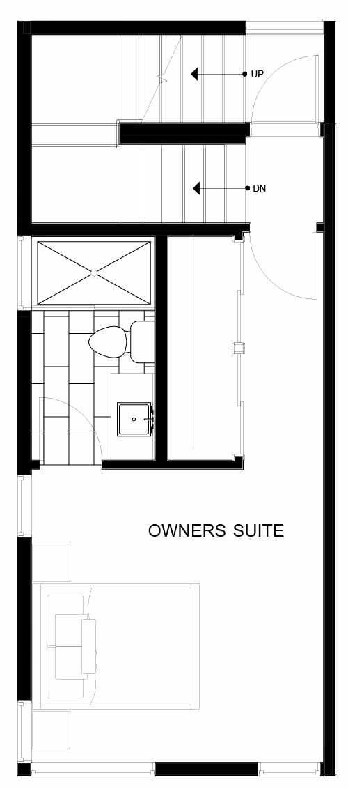 Fourth Floor Plan of 8547A Midvale Ave N, One of the Fattorini Flats Townhomes in Licton Springs by Isola Homes