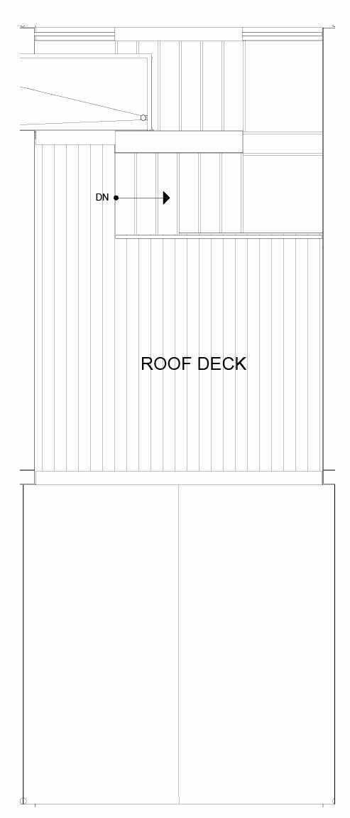Roof Deck Floor Plan of 8547B Midvale Ave N, One of the Fattorini Flats Townhomes in Licton Springs by Isola Homes