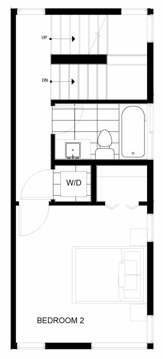 Third Floor Plan of 8547D Midvale Ave N, One of the Fattorini Flats Townhomes in Licton Springs by Isola Homes