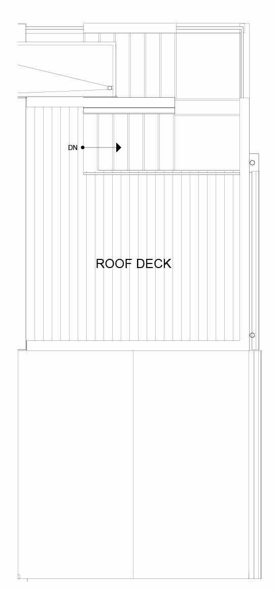 Roof Deck Floor Plan of 8547D Midvale Ave N, One of the Fattorini Flats Townhomes in Licton Springs by Isola Homes