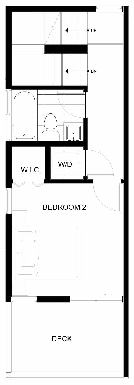 Third Floor Plan of 8549A Midvale Ave N, One of the Fattorini Flats Townhomes in Licton Springs by Isola Homes