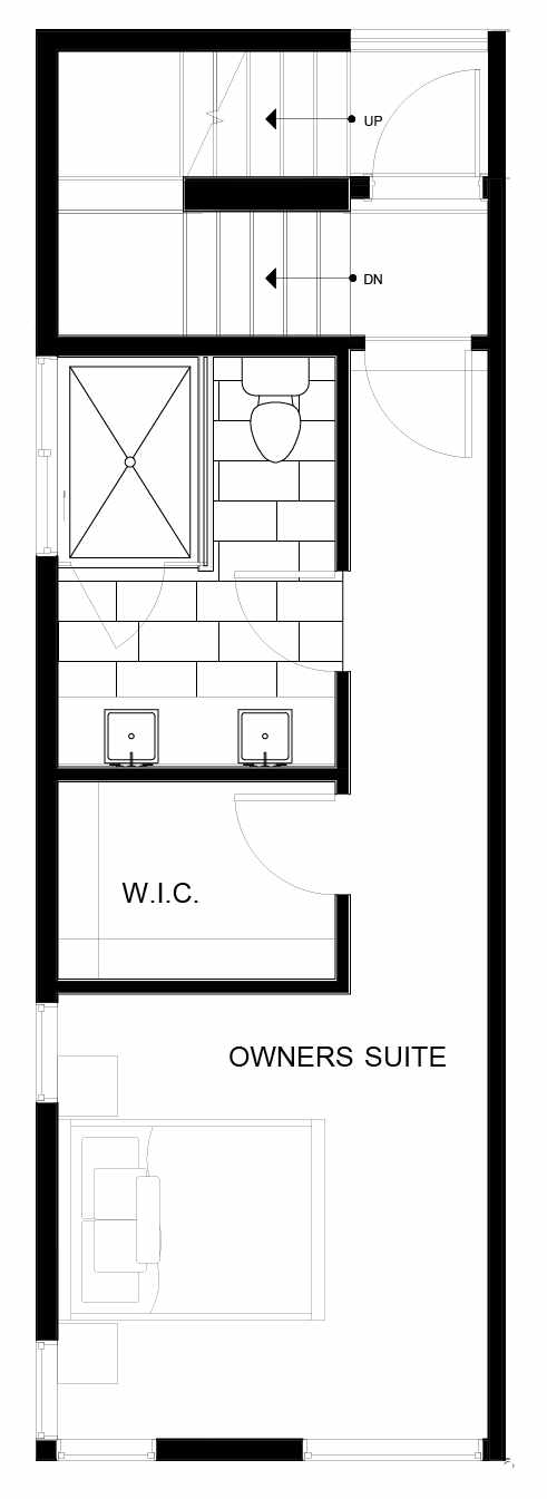 Fourth Floor Plan of 8549A Midvale Ave N, One of the Fattorini Flats Townhomes in Licton Springs by Isola Homes