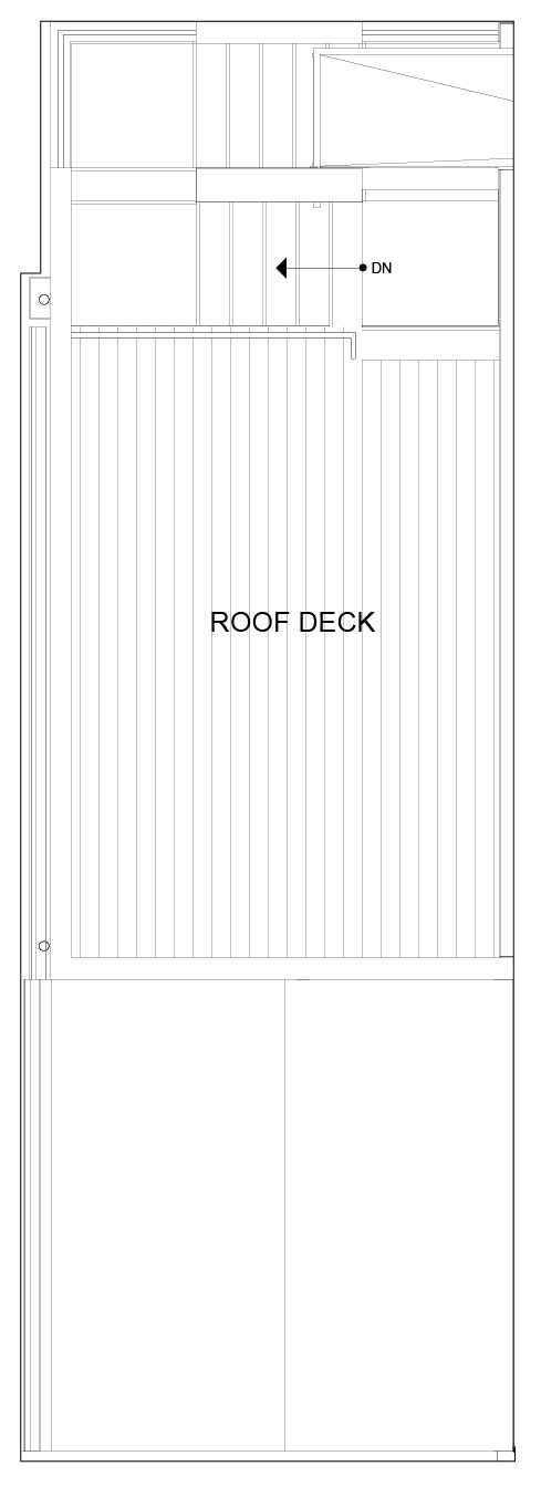 Roof Deck Floor Plan of 8549A Midvale Ave N, One of the Fattorini Flats Townhomes in Licton Springs by Isola Homes