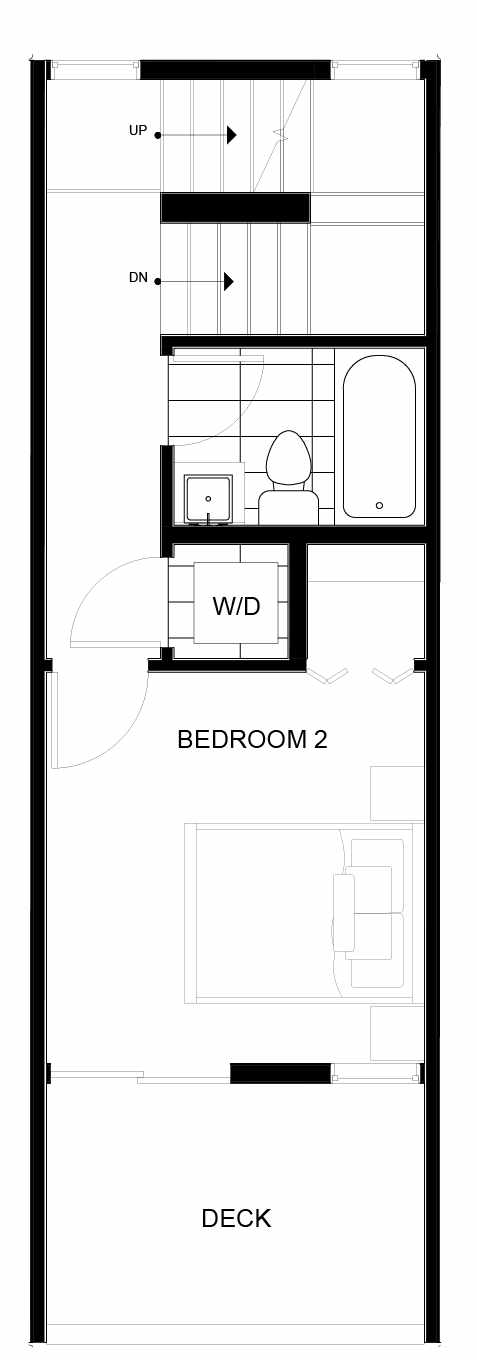 Third Floor Plan of 8549B Midvale Ave N, One of the Fattorini Flats Townhomes in Licton Springs by Isola Homes