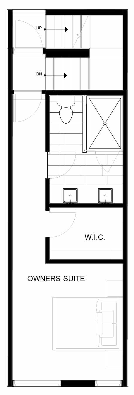 Fourth Floor Plan of 8549B Midvale Ave N, One of the Fattorini Flats Townhomes in Licton Springs by Isola Homes